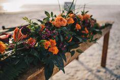 Florals by Flowers by Lesley, Mohana Inspired Wedding, Tropical Beach Inspiration Shoot , Anna Maria Island Wedding, Photo: Los Vargas Photography, Central Florida Wedding Blog, Orange Blossom Bride, www.orangeblossombride.com