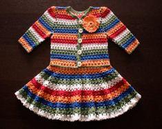 Baby Dress . Crochet Top by Illiana on Etsy
