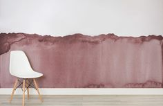 dusky pink wave-watercolour-room-wall mural-kj