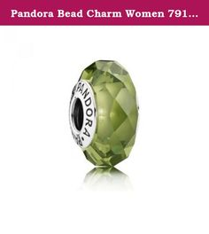 Pandora Bead Charm Women 791729NLG Silver and Crystal Faceted Olive Green. Pandora Bead Charm Women 791729NLG Silver and Crystal Faceted Olive Green.