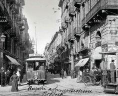 Via Roma Turin Italy, Ottoman Empire, Once Upon A Time, Old Photos, Istanbul, Nostalgia, Street View, Landscape, History