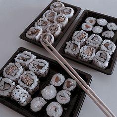 - ̗̀ saith my he A rt ̖́- Cute Food, Good Food, Yummy Food, Tasty, Sushi, Aesthetic Food, Japanese Food, Food Pictures, Cravings