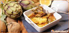 ⇒ Carciofi e Patate al forno   il Gallo al Grill.it