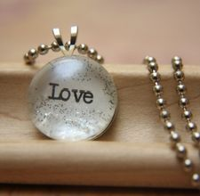 Glass pebble + word/picture + Mod Podge = cute pendant