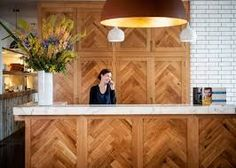 Now, that's a clever way to use our Oak Aged Oiled Parquet Blocks.  Who said flooring was just for floors!   www.naturalwoodfloor.co.uk