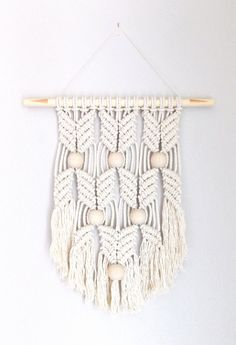 """Rope Art, Macrame Wall Hanging """"HANE"""" by HIMO ART, One of a kind Handcrafted rope art"""