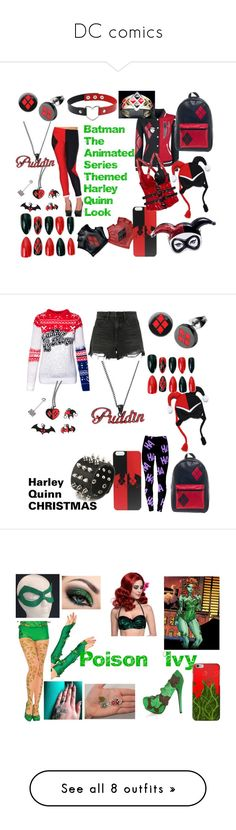 """""""DC comics"""" by adelle-louise-istead on Polyvore featuring DC Comics, Alexander Wang, Levi's, Miss Selfridge, ADAM, Jeffree Star, Manic Panic NYC, Converse, Trunk LTD and Anya Hindmarch"""