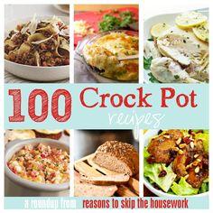 100 Crock Pot Recipes #crockpot #slowcooker