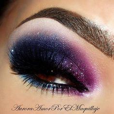 auroramakeup | Aurora Makeup in Deep Shimmery Blues & Purples... Enchanting Eyes!