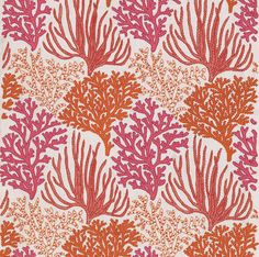 Coral Pattern Fabric print & pattern: fabrics - lewis & irene | design :: patterns