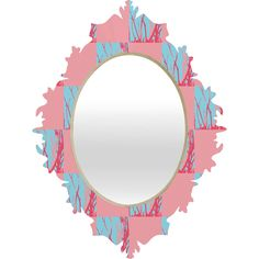 Rosie Brown Pink Seaweed Quilt Baroque Mirror | DENY Designs Home Accessories