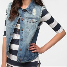 Urban Outfitters Bdg Jean Jacket Vest