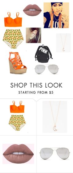 """""""beach day 3..this is us-wattpad story"""" by diva-slays ❤ liked on Polyvore featuring Full Tilt and Sunny Rebel"""