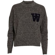 Wood Wood Alicia wool knit sweater with double A l found on Polyvore