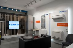 Daikin Hellas's new retail concept was conceived through a creative problem solving process & strategic analysis, yielding a unique retail experience Showroom Interior Design, Retail Concepts, Retail Experience, K2, Home Appliances, Display, Group, Store, House Appliances