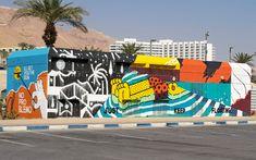 Dead Sea, Israel, street art Dead Sea Israel, Sea Level, Public Art, Street Art, Around The Worlds, Ocean, Earth, Design