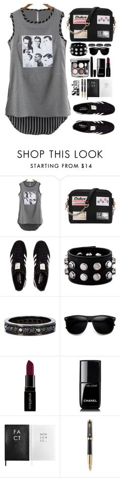 """""""Shein"""" by simona-altobelli ❤ liked on Polyvore featuring adidas Originals, Yves Saint Laurent, Repossi, Chanel, Smashbox, Sloane Stationery, Parker, Sheinside and shein"""