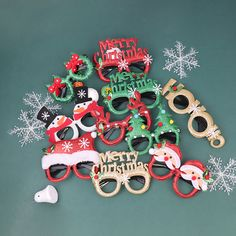 Christmas Eyeglass Cute New Year Festive Cartoon Eyewear Costume Eye Frame Funny Glasses Photo Booth Props For Party on AliExpress Christmas Chair, Merry Christmas, Christmas Ornaments, Festival Decorations, Xmas Decorations, Christmas Glasses, Photo Booth Props, Kids Toys, Children's Toys
