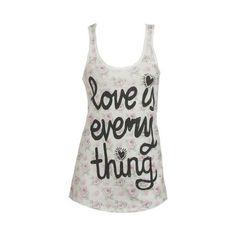 Love Everything Tank via Polyvore