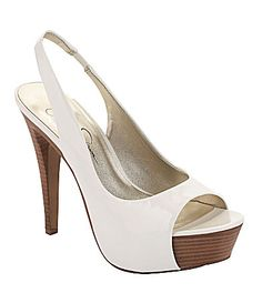 I Need a pair of white heels and I love this shoe