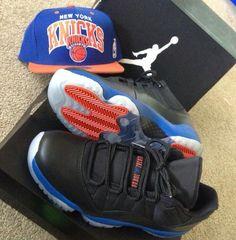 """Air Jordan 11 Low """"Knicks"""" Custom"""