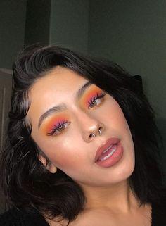 Wimpern Wimpern # Vanessa Da SunShine schmuebby make up Wimpern # Vanessa Da SunShine Wimpern # schmuebby Wimpern # make up Wimpern # Vanessa Da SunShine Glam Makeup, Baddie Makeup, Hair Makeup, Peach Makeup, Sleek Makeup, Stunning Makeup, Natural Makeup, Makeup Trends, Makeup Inspo