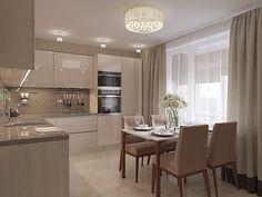 Интерьер 3-х комнатной квартиры в современном стиле на проспекте Просвещения, 60 кв.м.