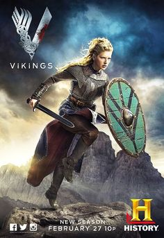 Katheryn Winnick as fierce shieldmaiden Lagertha in Vikings