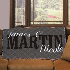 Personalized Couples 54 x 38 Throw Blanket
