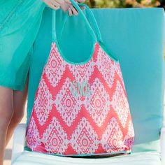 Coral Cove Beach Bag Monogrammed | The Preppy Pair