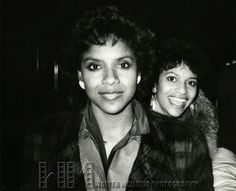 Debbie Allen of the television series Fame & sister Phylicia Rashad attending a performance of DREAMGIRLS at the Imperial Theatre in New York City, October 1982  © Walter McBride /