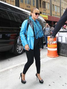 A then-pregnant Beyonce managed to look fierce while pregnant with Blue Ivy by rockin' her sky-high pumps.