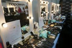 BACKSTAGE AT ALEX PERRY MBFWA 2014 'VARSITY' COLLECTION - NAPOLEON OFFICIAL MAKE-UP PARTNER