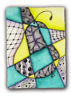 I joined an ATC swap on the Zentangle Inspired Art Site - which challenged participants to use tangles in the style of cubist art. Since I l...