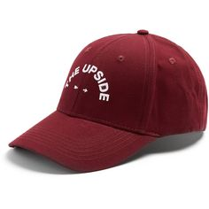 The Upside Embroidered cap ($31) ❤ liked on Polyvore featuring men's fashion, men's accessories, men's hats and mens caps and hats