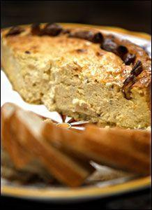 Gorgonzola Cheesecake W/ Polenta Crust