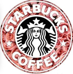Customized logo Starbucks is life all credit goes to Amanda! Comment if you want one Starbucks Logo, Disney Starbucks, Starbucks Drinks, Starbucks Coffee, Pink Starbucks, Tumblr Stickers, Cute Stickers, Starbucks Wallpaper, Coffee Logo