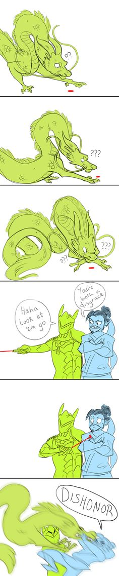 Genji Playing with His Dragon