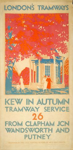Kew in Autumn Tramway Service - 26 - from Clapham Junction Wandsworth and Putney. [1925]