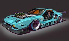 ArtStation - Tetsuo Shima's Ride, by walter kim Rx7, Tetsuo Shima, Akira Tetsuo, Mazda, Car Illustration, Car Sketch, Car Design Sketch, Futuristic Cars, Car Drawings