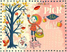 Autumn inspired art by Miriam Bos  #illustration #miriambos #handlettering