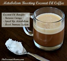 Metabolism Boosting Coconut Oil Coffee. This is really good, like a healthy latte!