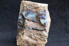 Raw natural Australian opal is a rare and precious resource. Australian opal mining is small scale and raw opal is not found in abundance.