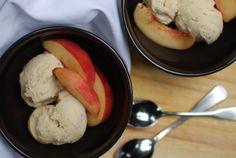 White Peach Ginger Ice Cream