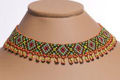 Traditional Ukrainian Folk Handmade Multicolor Jewelry by koraliky, $12.20