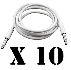 3.5mm Aux Stereo Audio Headphone Cable Cord Male to Male CAR Aux Phone Bundle #UnbrandedGeneric