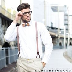Suspenders and a bow tie - the #DTbeech ($59) bow tie to be exact - make for a classic, and fashionable, look! Photo @stevenepprecht and photographer @visionoftouch. #Dappertime #dapper #menlifestyle #menstyle #mensfashion #menwithclass #menwithstyle #instafashion #gentleman #braces #mensaccessories #accessories #suspenders #bowtie