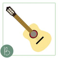 Acoustic Guitar SVG File by BeaOriginalStore on Etsy, $2.00