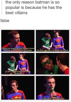 Dang, the shade is strong with Superman