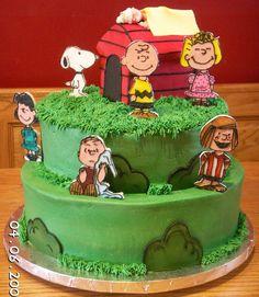 Charlie Brown cake   Charlie Brown baby shower